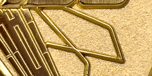 Oro con Sfondo Sabbiato